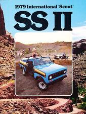 1979 IHC International Harvester Scout SS II Original Car Brochure Catalog
