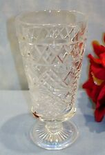 Hazel Atlas Gothic Big Top Peanut Butter Crystal Juice Goblet 50s Glassware