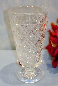 Hazel Atlas Gothic Big Top Peanut Butter Crystal Juice Goblet 50s Glassware