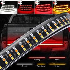 "60"" Triple Row LED Tailgate Light Bar 5 modes Reverse Brake Turn Signal light"