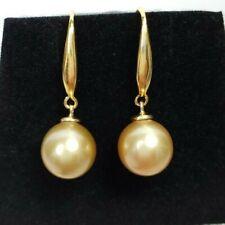 Genuine 9mm Australian South Sea Pearl Earring, 18k gold hook, Natural pearls