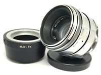 HELIOS 44-2 58mm f/2 Silver Lens M42 + Adapter Fuji Fujifilm X Mount FX SERVICED