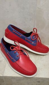 Cole Haan Red Cornell 2 Eye Boat Shoe Size 8.5