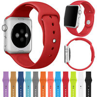 For Apple Watch Series 5 4 3 2 1 Replacement Silicone Band Strap Sport Bracelet