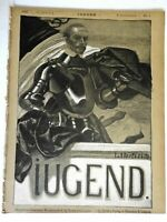 Knight with Lance Jugend Magazine 1900 Issue 3 Jugenstil Art Nouveau graphics