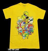 New Nickelodeon Squad Cast Yellow Men's Vintage Retro T-Shirt