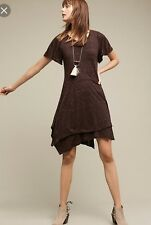 Anthropologie Melanie Knit Dress Dolan Left Coast Purple Plum Sz XS