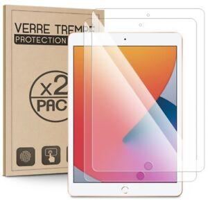 Écran Protection en Verre Trempé pour Apple iPad 8 2020 10.2 8e Gén [Pack x2]