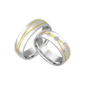 2 Trauringe 925 Silber GRAVUR Eheringe Verlobungsringe Partnerringe D8794 vj