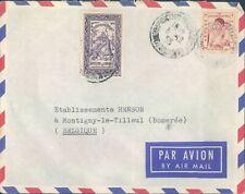 CAMBODIA nice cover to Belgium 1953