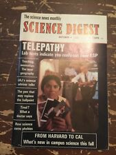 October 1966 Science Digest Magazine Telepathy
