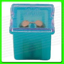 * Pack of 2 * 12V 20A Blue Short PAL Slow Blow Mini Fuse [30482]