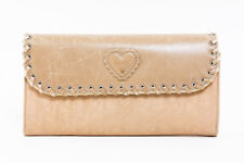 Auth Christian Dior Trotter Pattern Canvas Leather Long Wallet Beige #21772