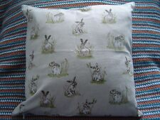 Hares Linen Cushion Covers