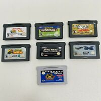 Gameboy Advance 7 Game Lot-KND,Backyard Football,Star Wars,Monster Truck Madness