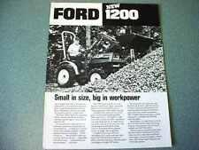 Ford 1200 Farm Tractor brochure               lw