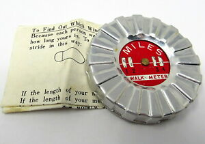Walk Meter Measures the Miles You Walk Vintage in Box Instructions Clip to Belt