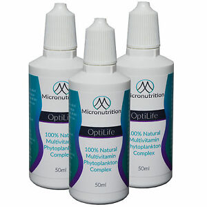 High Quality Marine Phytoplankton loaded with Vitamins and Minerals - 3 x 50ML