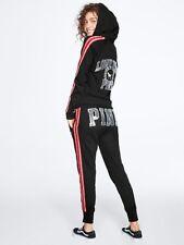 Victorias Secret VS PINK Bling Skinny Jogger, Full Zip, & T Shirt Set Size S
