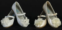 New Baby Toddler Girls Infant Ivory White Dress Shoes Flats Wedding Party Fancy