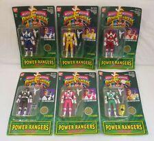 Set of 6 AUTO MORPHIN POWER RANGERS Figures Bandai 1994 NEW MOC Green Ranger