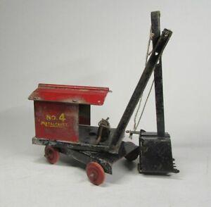 Antique 1930s Metalcraft No.4 Steam Shovel Excavator Original Vintage