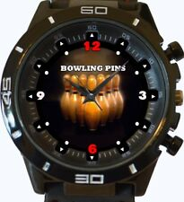 Bowling Pins New Gt Series Sports Unisex Gift Wrist Watch UK SELLER