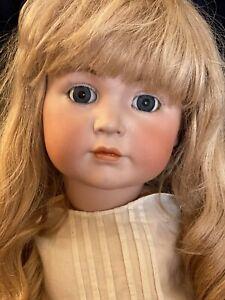 """Antique Kammer & Reinhardt 117 Mein Leibling German Bisque Doll 30"""" Human Hair"""