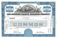 The WESTERN  Pacific Railroad Compagny Certificate 20 shares  1951 (12776)