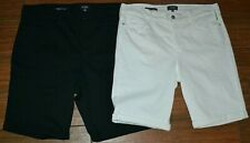 NYDJ BRIELLA Cuffed Shorts White Size 14P 16P OR Black Size 18W CHOICE