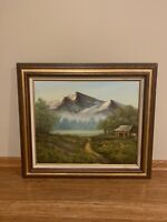 Original Vintage Oil Painting On Canvas Signed Framed
