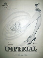PUBLICITE DE PRESSE IMPERIAL BAS ET COLLANT STOCKING FRENCH AD 1957