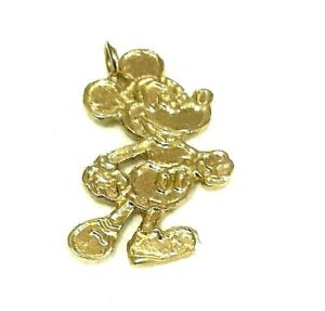 Brand New 14kt Gold MICKEY MOUSE Charm/ Pendant - Free Shipping!