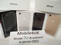 SEALED NEW APPLE iPHONE7 32GB 128GB 256GB ROSE GOLD JET BLACK SILVER 12mWARRANTY