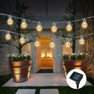 Waterproof IP65 Solar 10 LED Ball Fairy String Light Ball Lamp Garden Path Decor