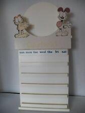 Garfield Wood Display Holder 4 Bradford Exchange Perpetual Calendar Plate