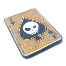 Death Skull Card Poker Ace of Spade Tactical Morale Patch  Military Decal