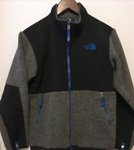 THE NORTH FACE  Boys Garçons Fleece Jacket Gray Black Large