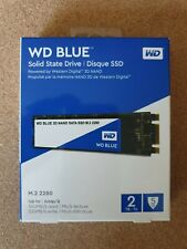 WD BLUE M.2 (2280) SATA 2TB 3D NAND (WDS200T2B0B)  (Internal SSD) **NEVER USED**