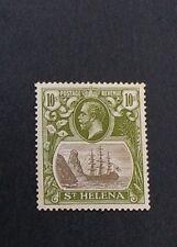 ST. HELENA 1922 10s SG 112 Sc 93 MLH light gum toning