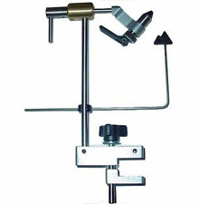 NEW PEAK TRUE ROTARY FLY TYING VISE PRV-CI WITH C-CLAMP BASE USA MADE FREE SHIP