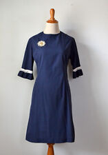 TRUE VINTAGE 1960s Blue Mini Dress 60s Costume Clothing Small Extra Small