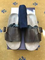 Prada Mens Sandals Flip Flop Brown Leather Shoes UK 7.5 US 8.5 EU 41.5