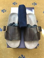 Prada Homme Sandales Tongs en cuir marron chaussures UK 7.5 US 8.5 EU 41.5