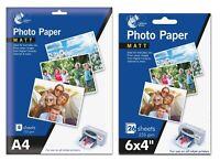 HIGH QUALITY MATT PHOTO PAPER A4 7X5 6X4 DIGITAL MATT INKJET PRINTER 200GSM