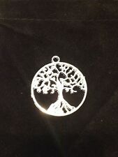 3 X Circle of life tree pendant charms silver tone unisex Zinc Alloy w/Charm Bag