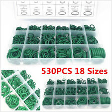 Boxed 530Pcs 18 Sizes Car Air Conditioning Rubber O-ring Seal Gaskets Kit Green
