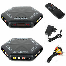 4 in 1 out S-Video Video Audio Game RCA AV Switch Box Selector Splitter + Remote