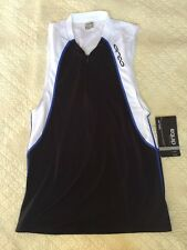 ORCA Equip Tri Tank Size Large Black White Triathlon Dri-lite Sleeveless Shirt