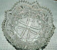Pressed Glass Crystal Serving/Fruit Bowl, Unknown Maker